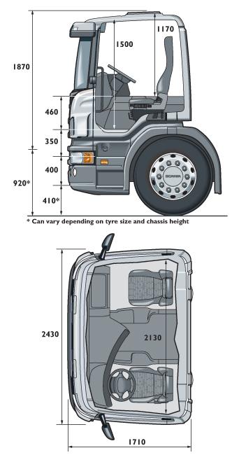 Кабина Scania CP14 короткая