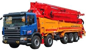 Zoomlion устанавливает бетононасосы на шасси Scania