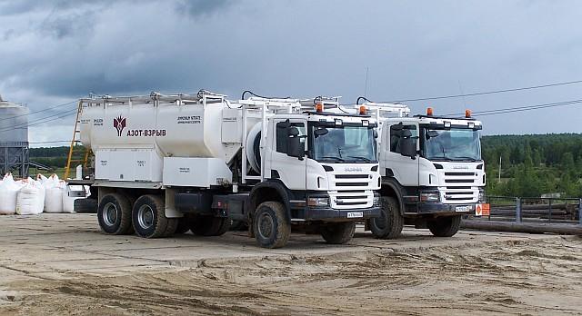 Смесительно-зарядные машины Scania Покровский рудник