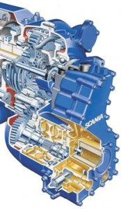 Scania integrated retarder.