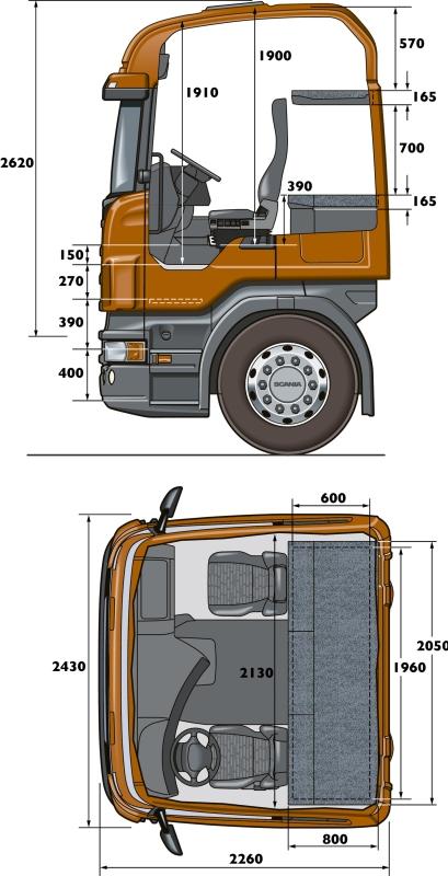 CR19 Highline - кабина Скания Хайлайн размеры Продажа тягачей Scania Хабаровск