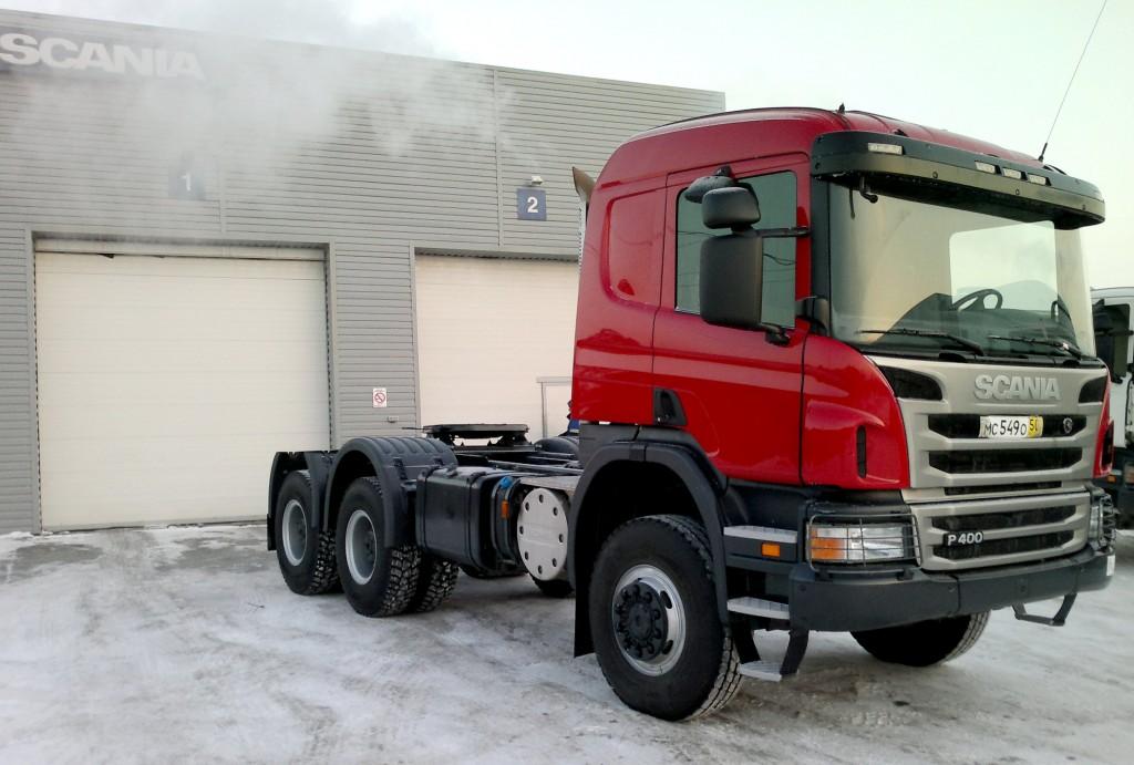 Тягач Скания 6х6 продажа в Хабаровске наличие на складе
