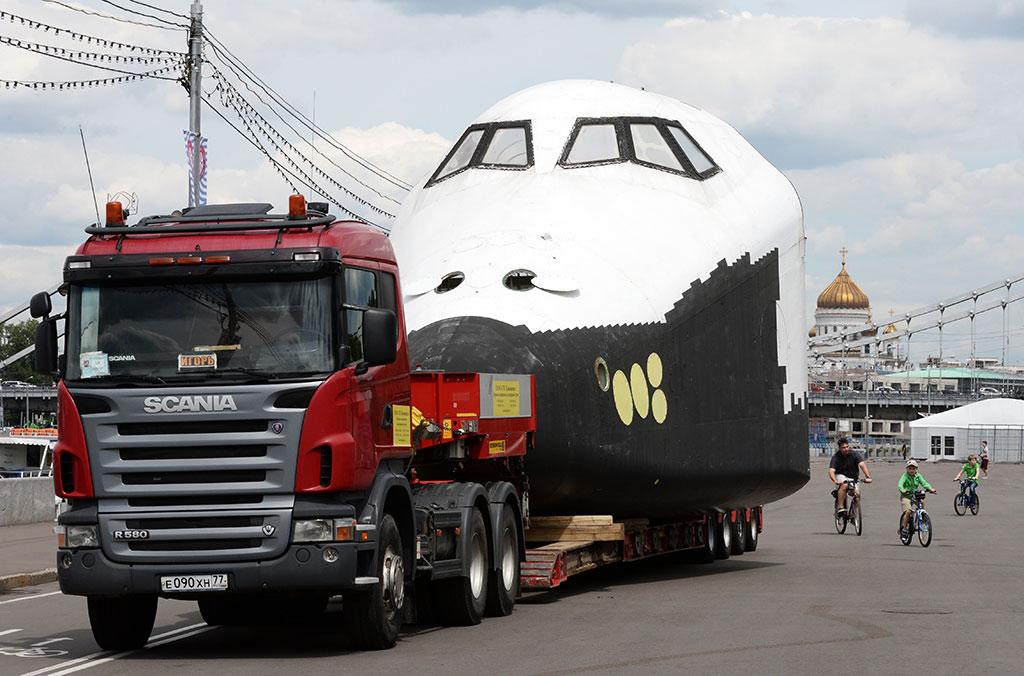 Скания Scania тягач трал