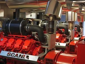 дизель генератор Scania для резервного питания дом парламента Швеция
