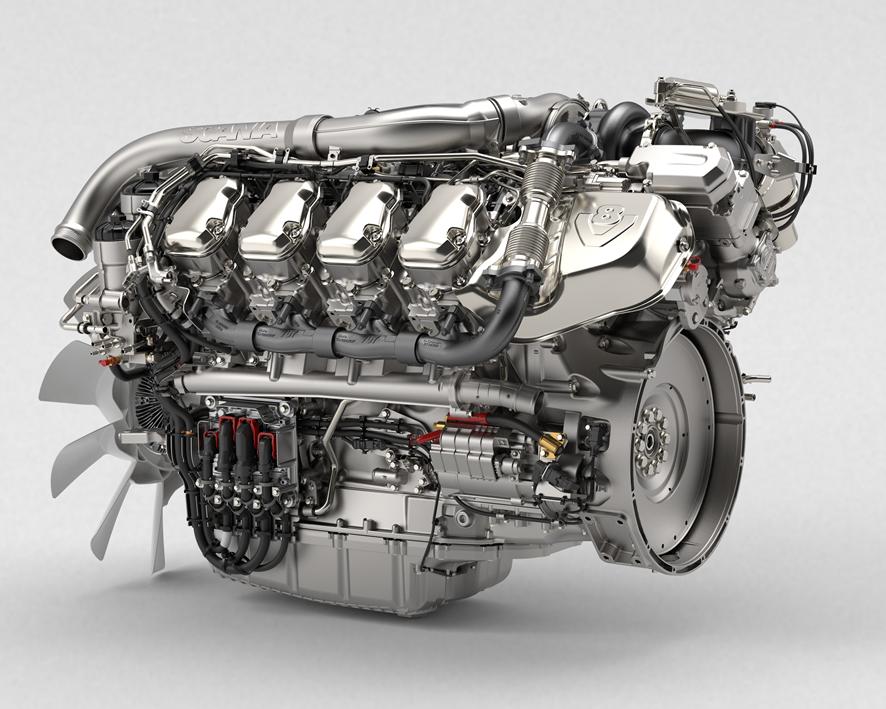 Двигатель Scania V8